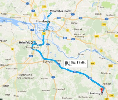 Karte Barmbek-Heimfeld-Lüneburg