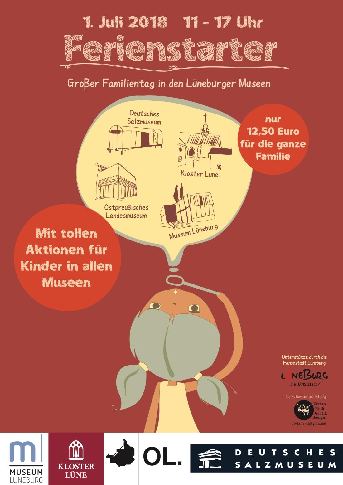 Ferienstarter 2018_Lüneburger Museen_Plakat