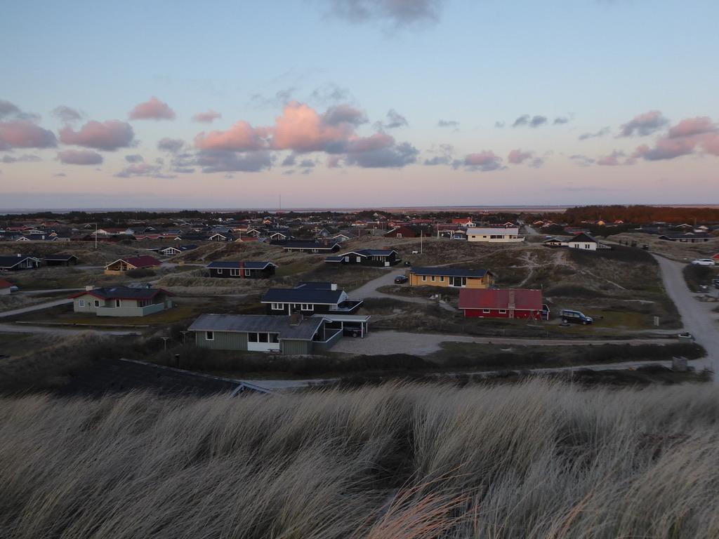 Blick auf die Ferienhaussiedlung